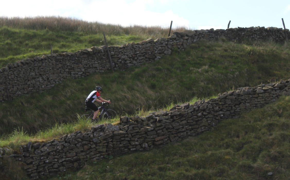 011 The Superb Cycling Between Dry Stone Walls About To Descend To Airton