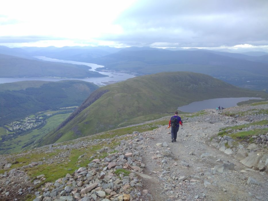 Descending The Pony Path Of Ben Nevis