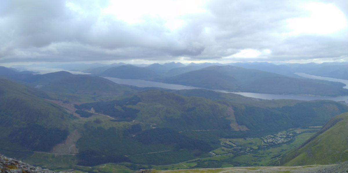 Glen Nevis And Loch Linnhe From The Descent Of Ben Nevis