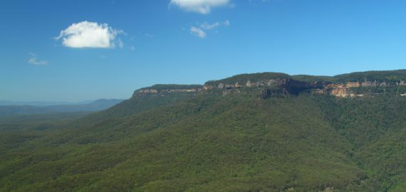 Walking in the Blue Mountains of Australia