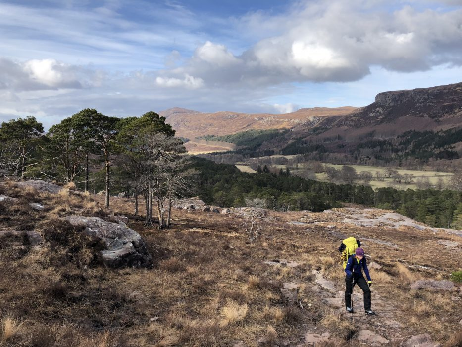 Beginning the climb up to Loch Toll and Lochain
