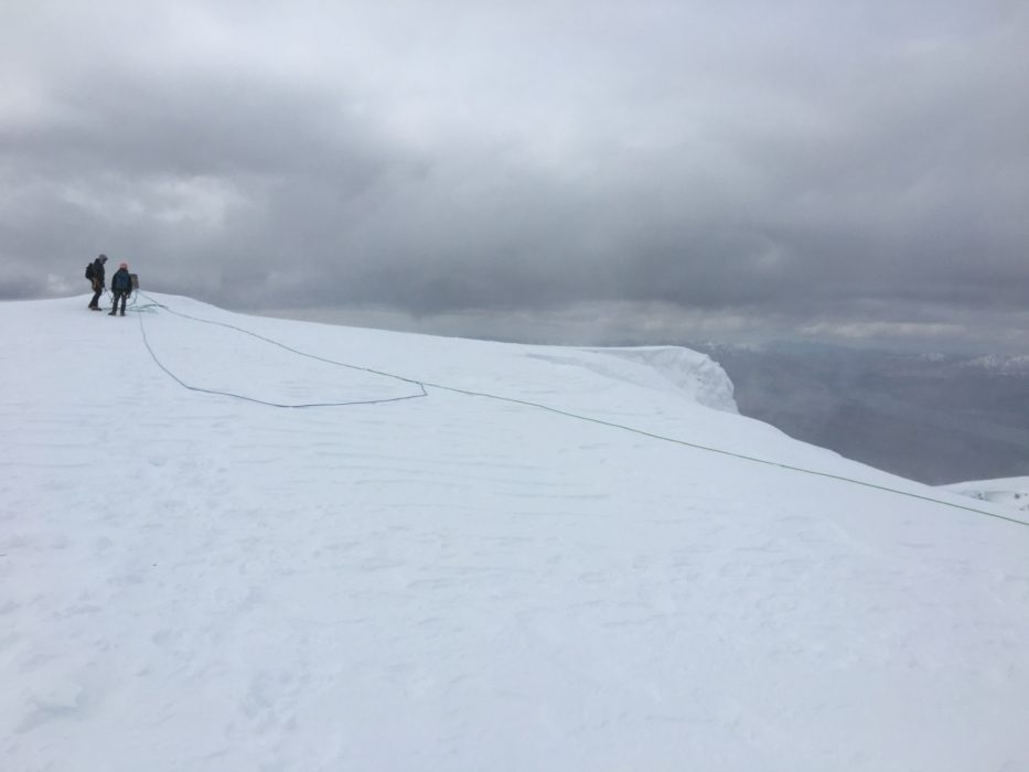 Cold and austere day on the top of Ben Nevis