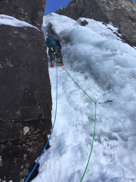 The first pitch of Waterfall Gully was quite straightforward