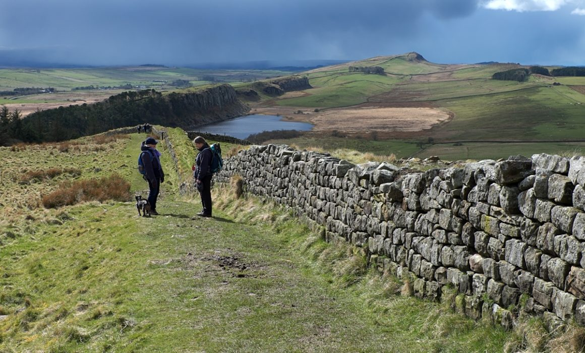5 Walkers On Hadrian's Wall