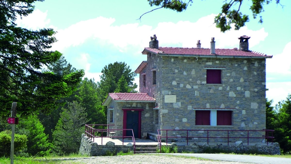 The Mountain Refuge At Arnomousga Mt Parnonas