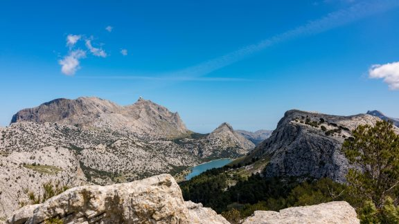 From The Summit Of Puig De L Ofre Looking Towards And The Embassament Reservoir De Cuber