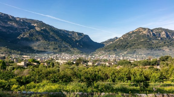 Morning Over Soller From The Gr221 On The Route To Binairaix
