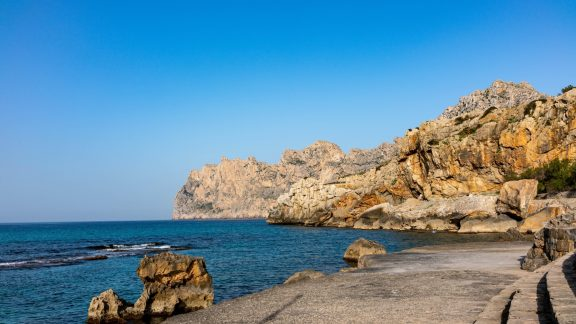 Spectacular 300M Sea Cliffs Outside Cala De St Vincenc, Three Miles From The Finish Of The GR221 In Pollenca And A Good Spot To Wind Down