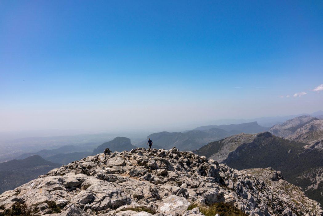 Arriving On Massenellas Summit Plateau