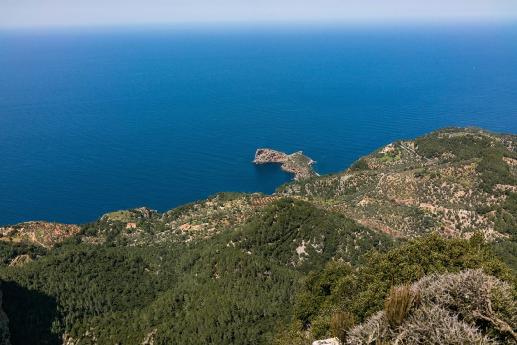 Mallorca's Spectacular Northern Coastline 900M Below The Narrow Cingles De Son Rullan