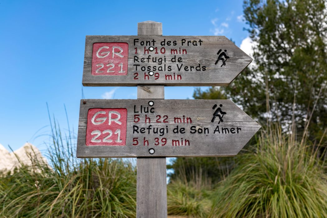 Precise Signage At The Font Des Noguer
