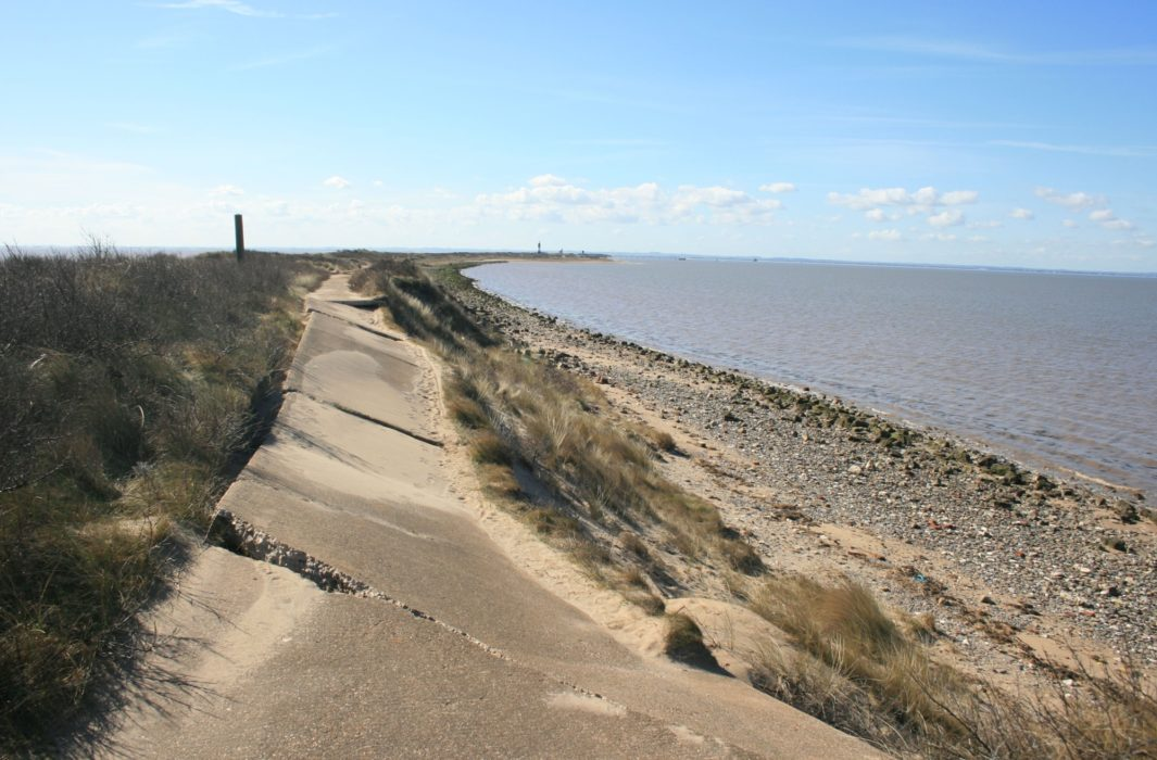Damaged Road On Spurn Head
