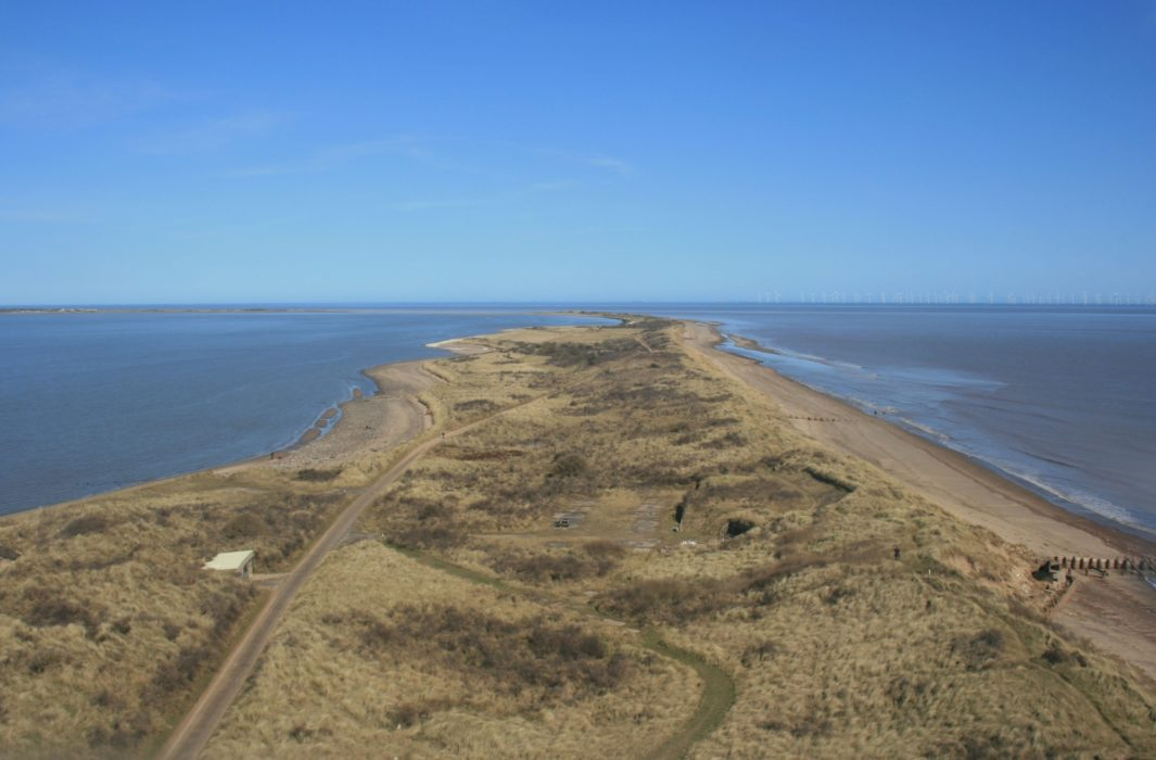 Looking Back To The Mainland From Spurn Head Lighthouse