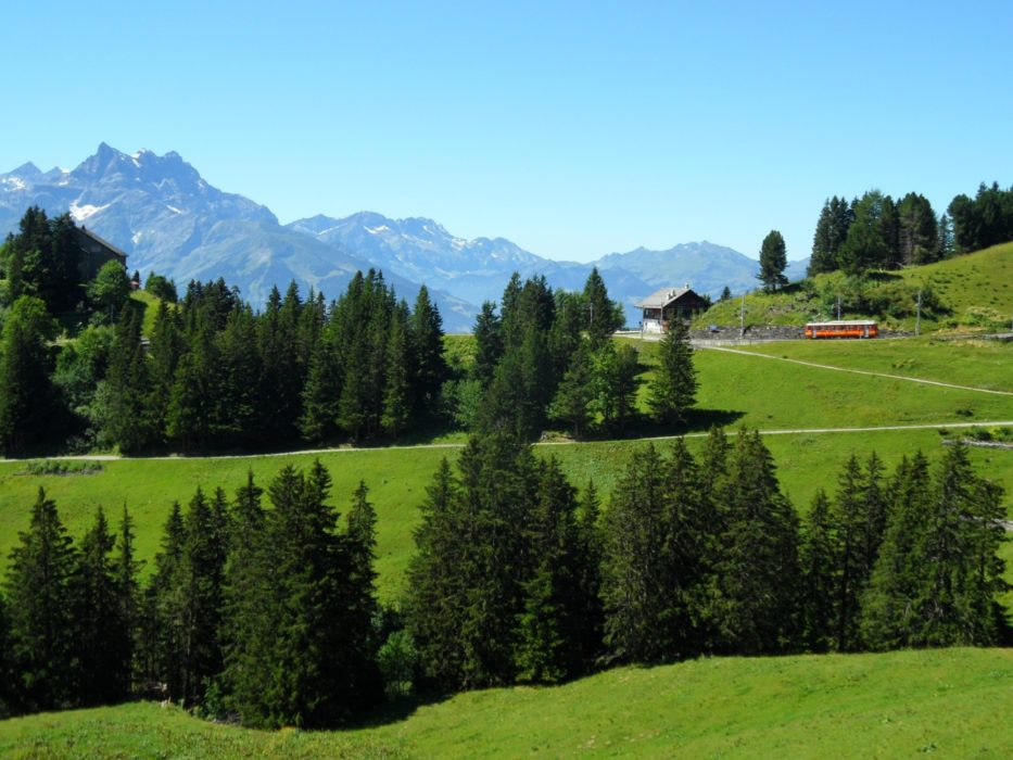 Above Villars: It Could Be A Model Train Set
