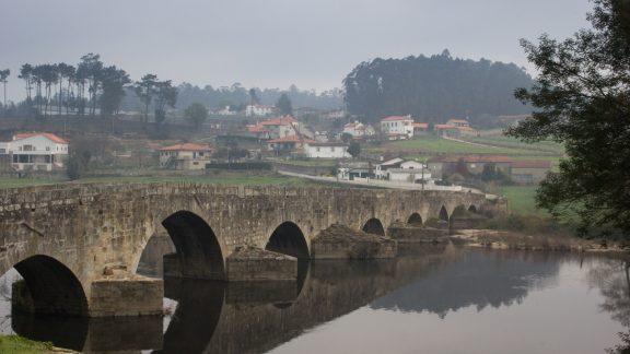 Central Camino: Ponte d'Zameiro Over The River Ave