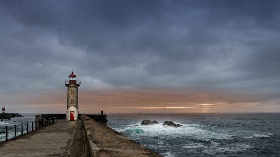 Felgueiras Lighthouse Foz Do Douro on the Coastal Camino