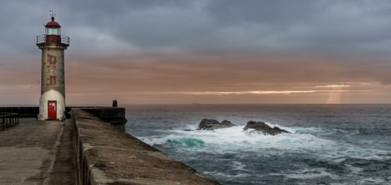 Felgueiras Lighthouse Foz Do Douro on the Coastal Camino