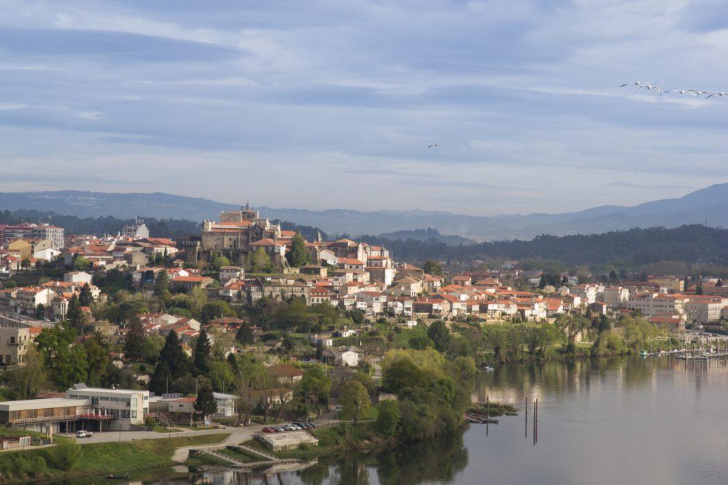 Central Camino: View Of Tui Across The River Minho From The Pousada De Sa Teotonio, Valenca