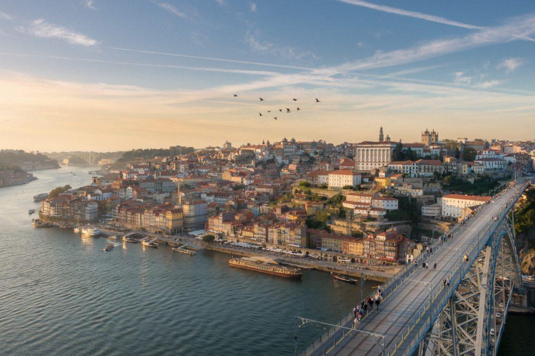Sunset Views From Mosteiro Da Serra Do Pilar, Porto