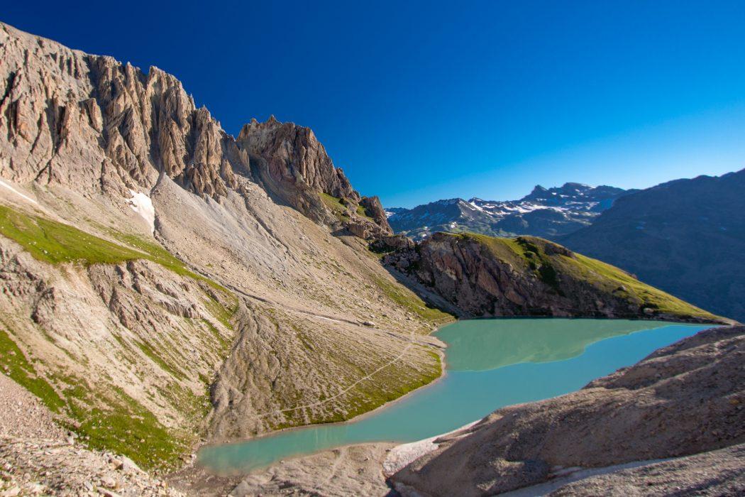 Lac Des Beraudes On The Tour Of The Massif Des Cerces