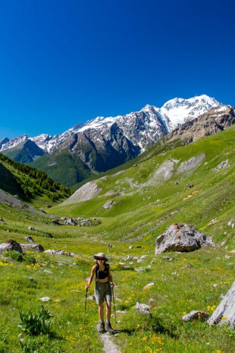 The Climb Towards Le Grand Lac Near Les Aretes De Bruyere