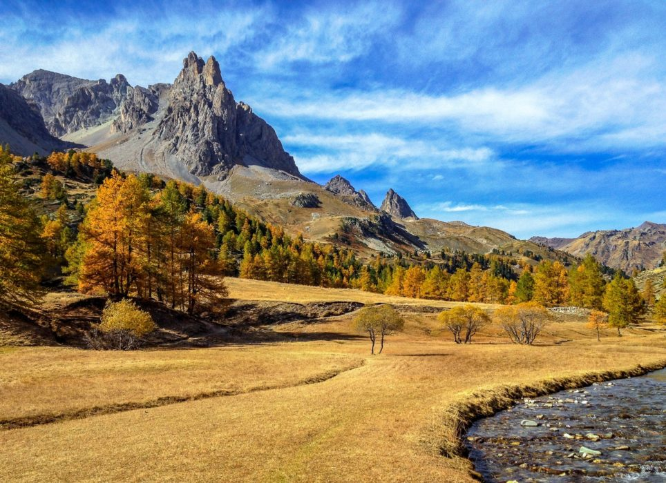 The Magnificent Clarée Valley Showing Its Autumn Colours