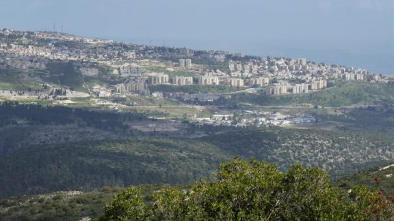 P008 Hilltop Town Of Safed Seen From Mount Meron