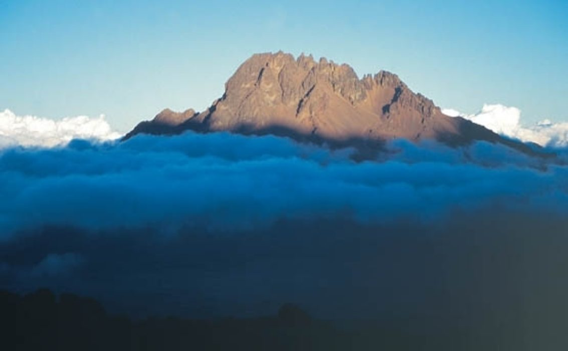 011 Mawenzi Seen At Dusk Above Band Of Cloud. Rongai Route