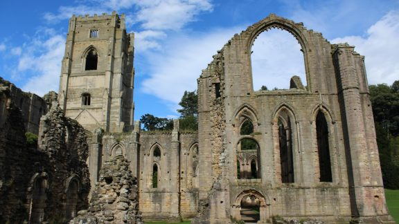 The medieval ruins of Fountains Abbey