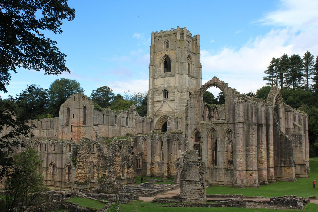 The monastic ruins of Fountains Abbey