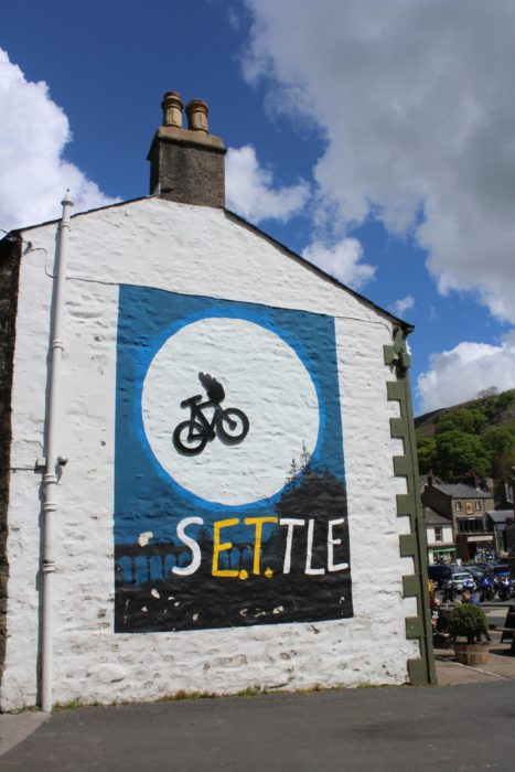 Cycling meets sci-fi in Settle market place