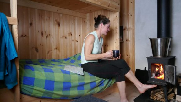 Relaxing in the Krossvatn hut, Settesdal