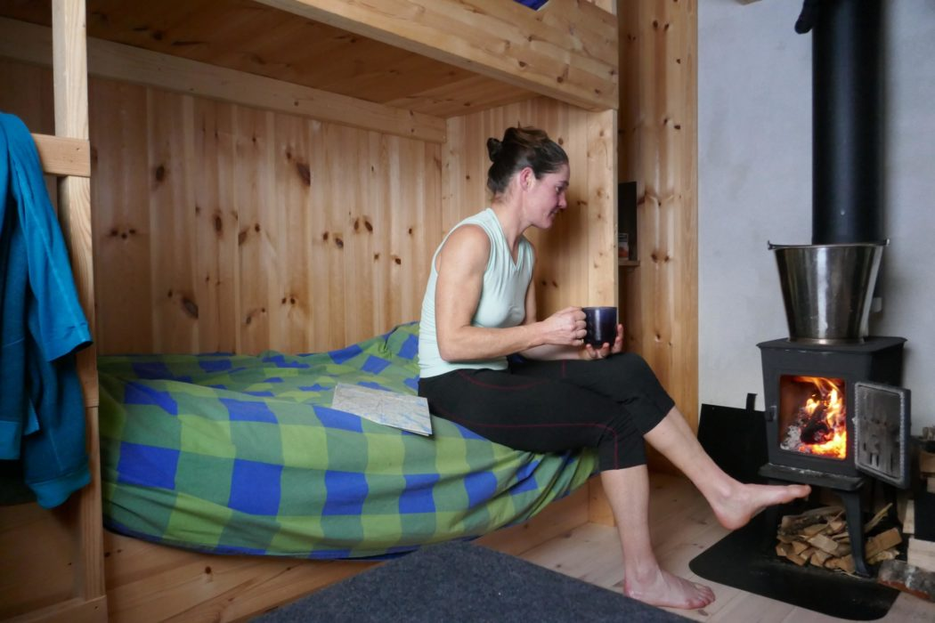 Relaxing in the Krossvatn hut, Settesdal