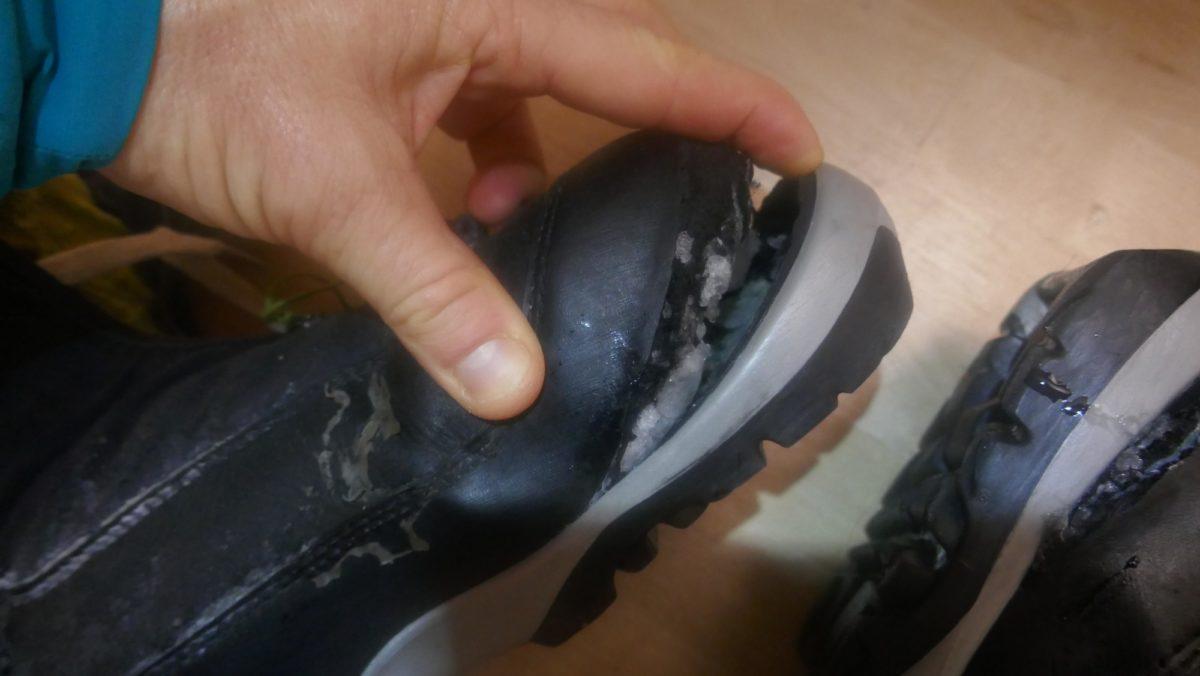 Boot destruction