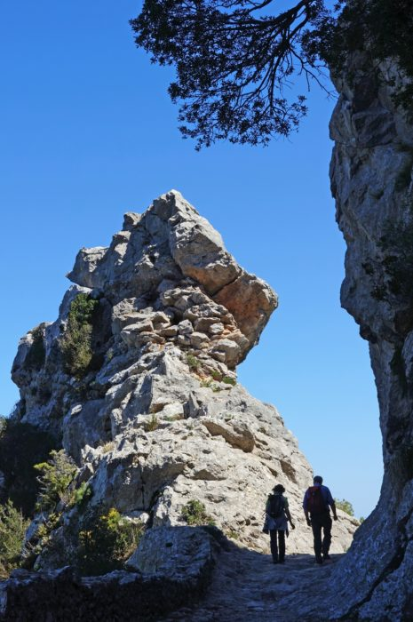 Bretxa Vella is a remarkable mountain pass between Lluc and Caimari