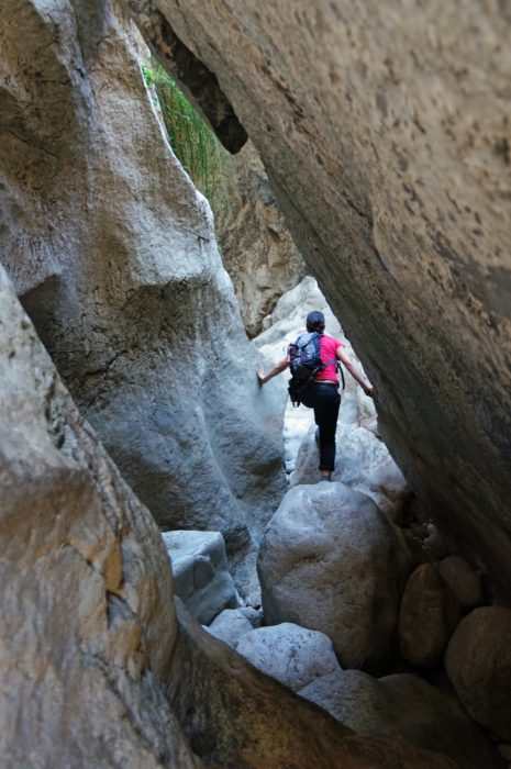 Descending the Torrent de Pareis requires careful planning and preparation