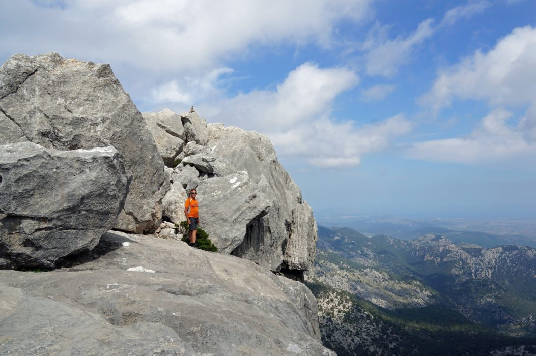 Puig de n'Ali, where my friend Jaume says I was the first foreigner to climb it!
