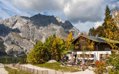 Wimbachgries Hut is a base for mountaineers crossing the Watzmann massif