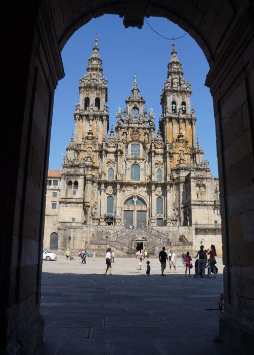 The goal of many of the caminos - the cathedral at Santiago