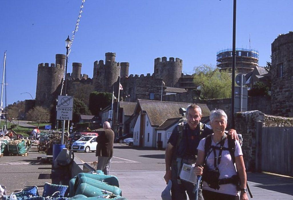 Jim and Carol Watson - smiling at the end of a long and fantastic walk