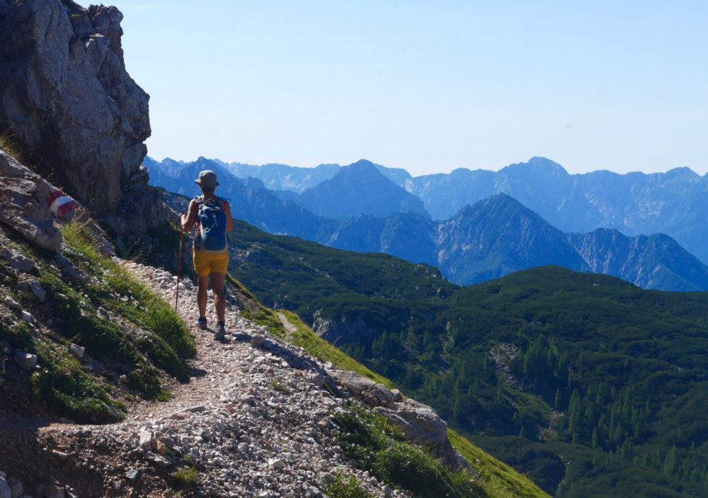On the flanks of the Trogkofel looking into the Julian Alps