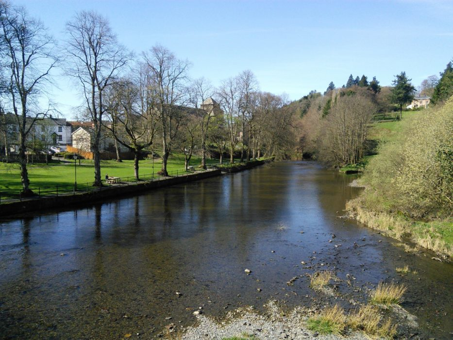 The River Severn, seen when leaving the little town of Llanidloes.
