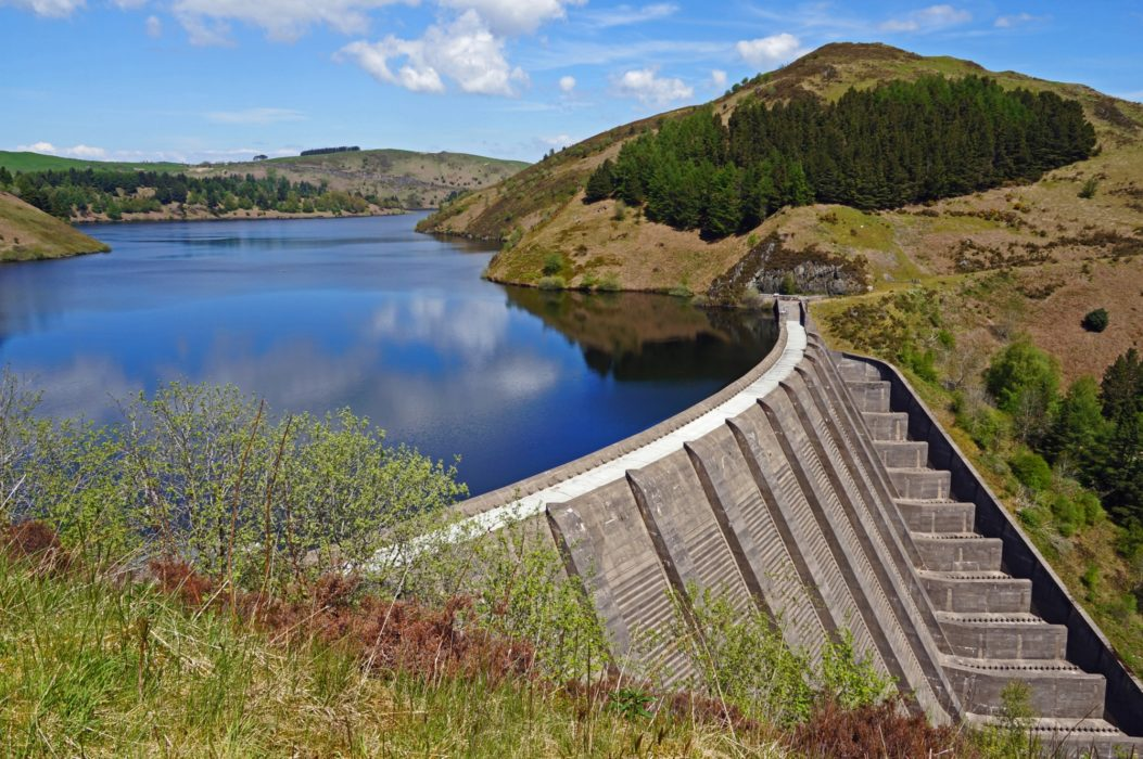 Llyn Clywedog is one of two impressive reservoirs seen on the trail.