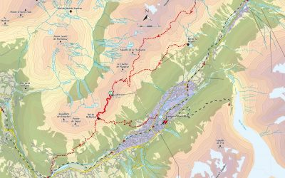 Map of the area including the Refuge de Bellachat
