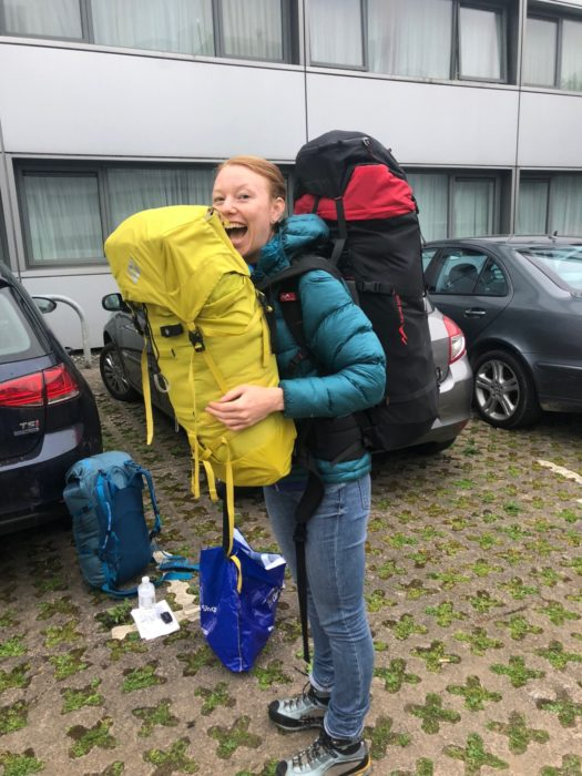 We had around 35kg of luggage each