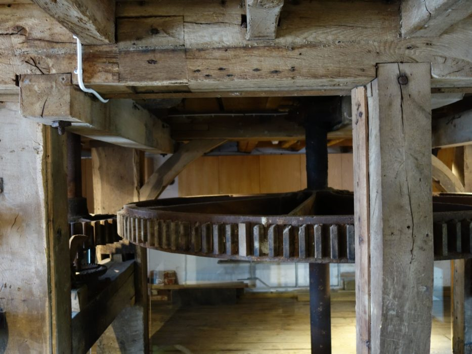 Inside Eling tide mill