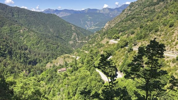 The Road Makes Countless Hairpins As You Climb The Col De Turini