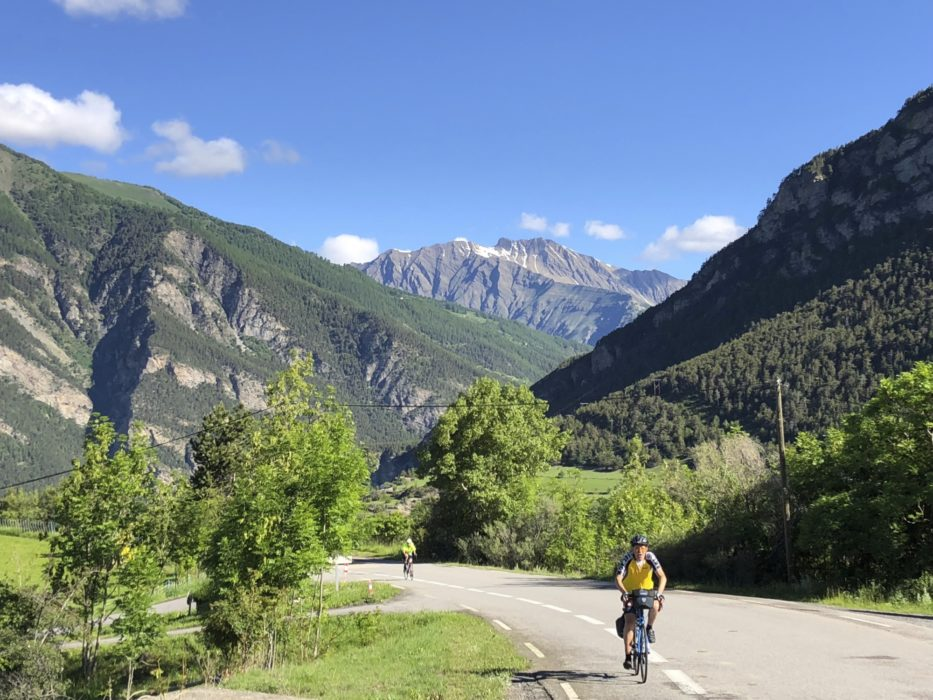 Early In The Climb From Jausiers  The Roads Usually Have A Cycle Lane