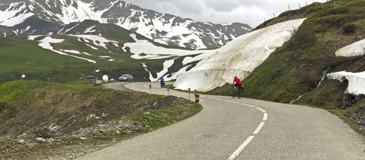 Nearing The Summit Of Col De La Madeleine