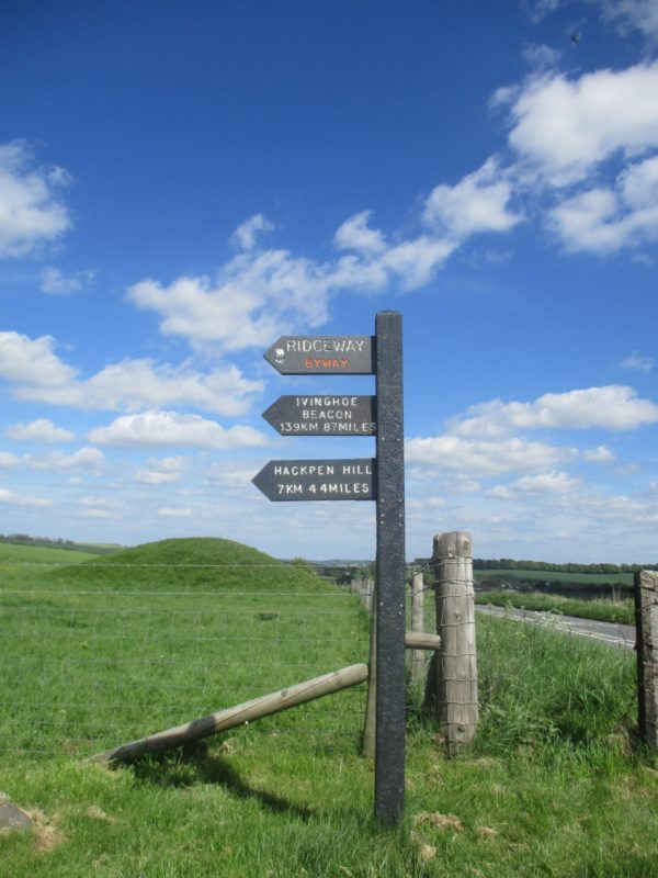 Signpost at the start of the walk